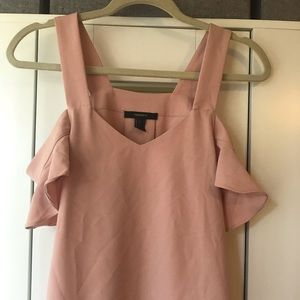 Pink Blouse with Cut Out Shoulders